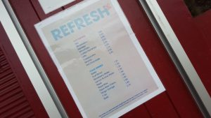 Refreshments at Wicksteed Park