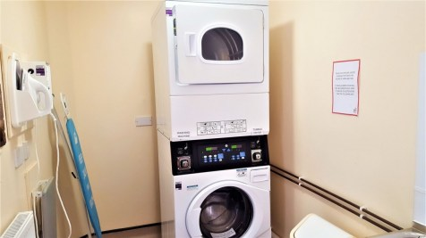 The Washer and dryer at Cambridge Camping and Caravanning Club