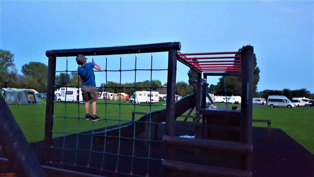 Play park at Cambridge Camping and Caravanning Club