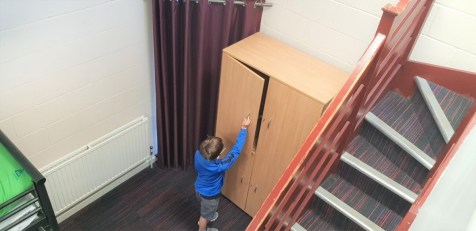 Lockable, secure cupboards at YHA York