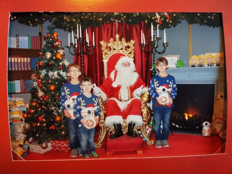 Visiting Santa at Queensgate Peterborough