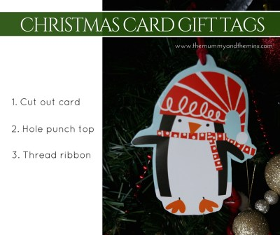 Christmas Card Gift Tag