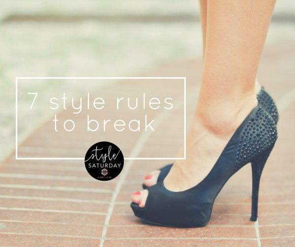 7 style rules to break