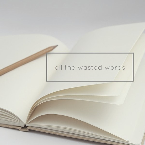 all the wasted words