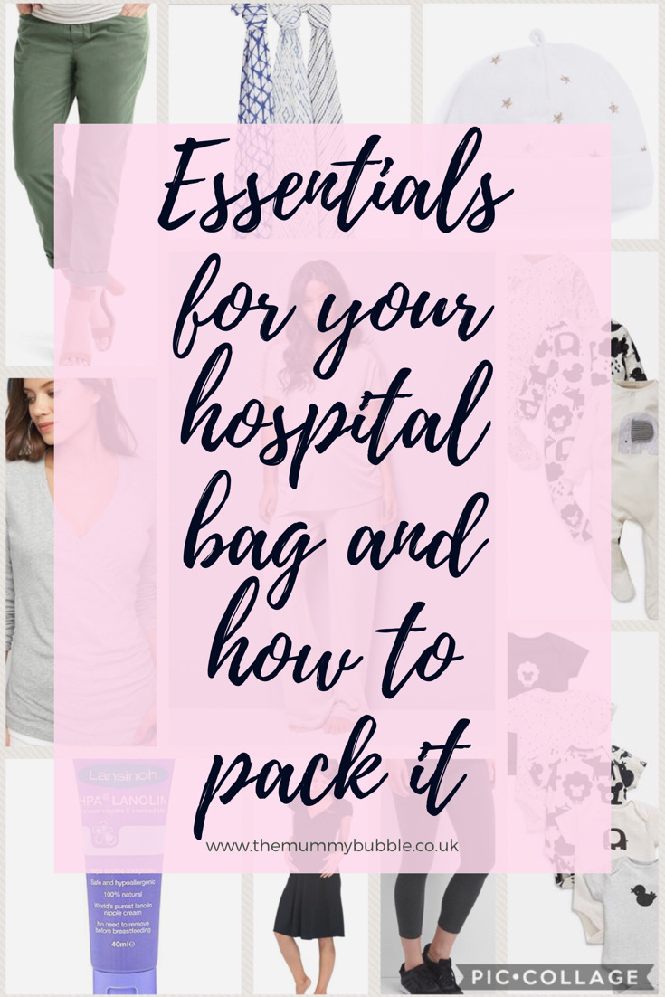 Essentials for your hospital bag and tips on how to pack it