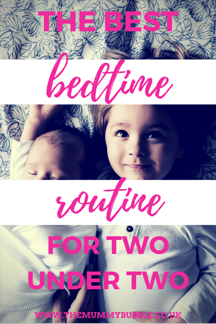 Bedtime routine for two children under age two