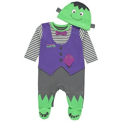 Halloween baby costume Frankenstein monster