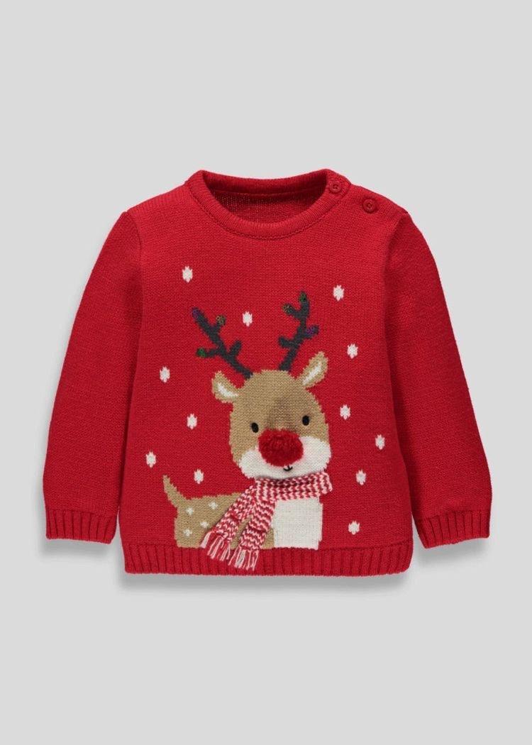 Red Matalan Rudolph Christmas jumper