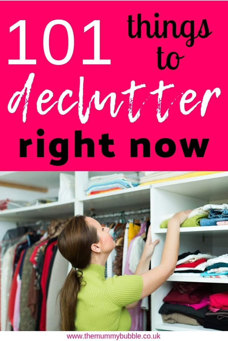 101 things you can throw away and declutter right now