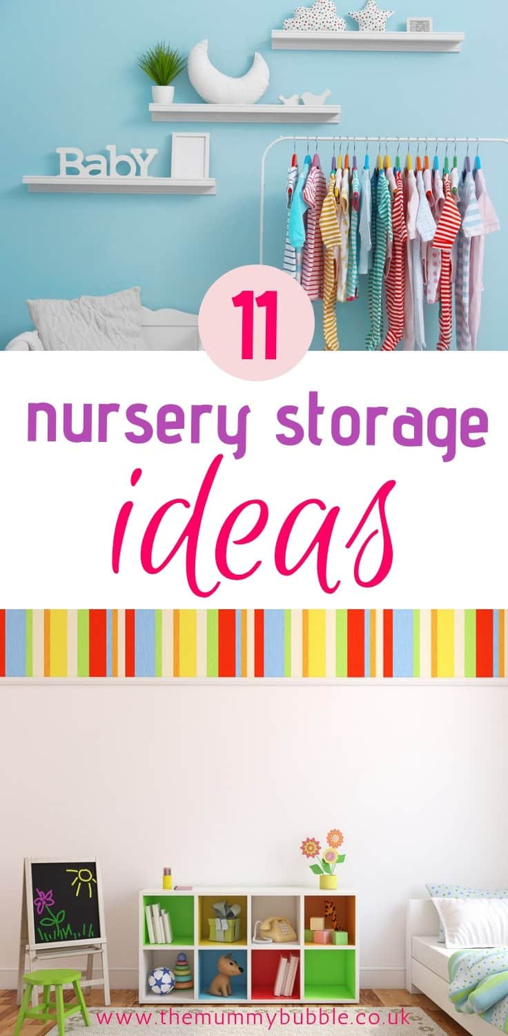 11 brilliant nursery storage ideas - fab inspiration for organising your baby's room