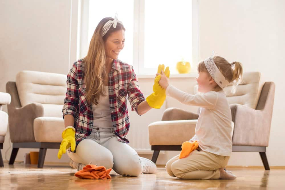 How to keep your home clean when you have small children