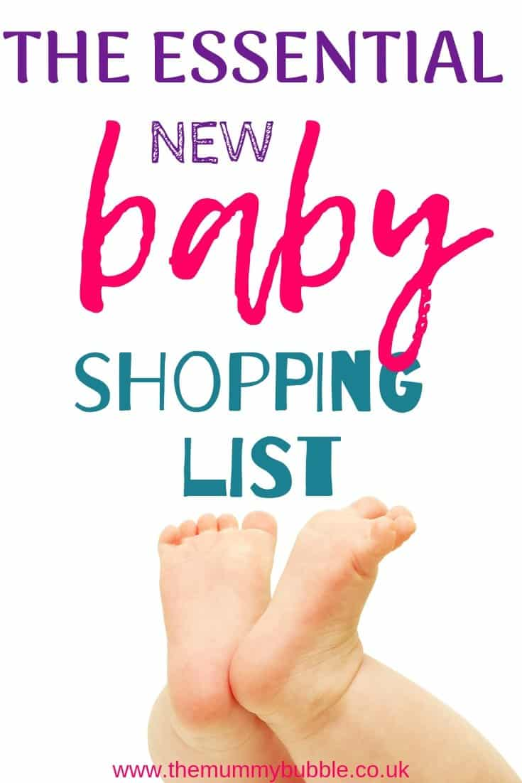 Essential new baby shopping list - what you need to buy for a new baby