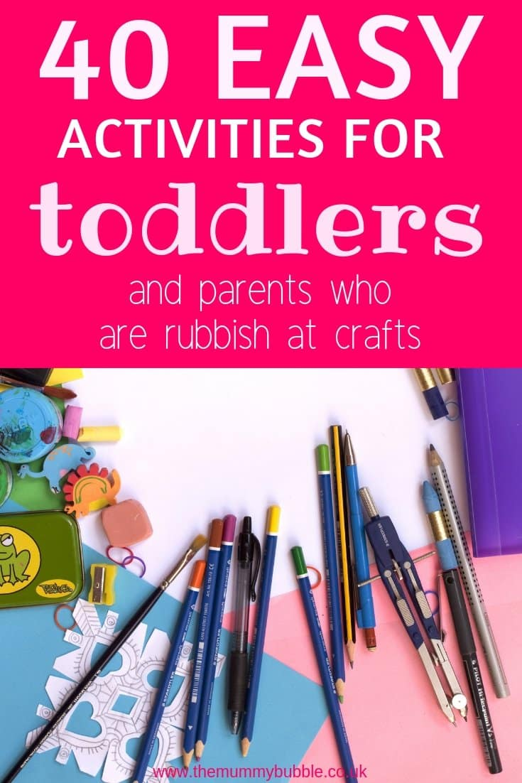40 easy activities for toddlers