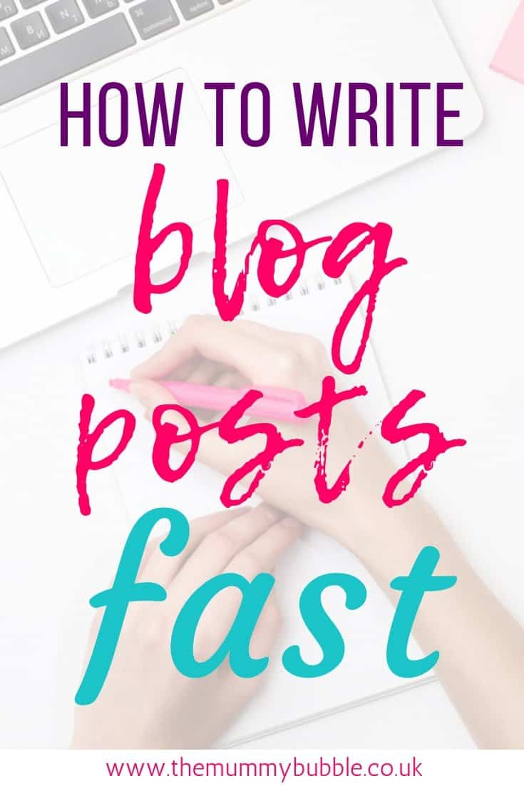 How to write blog posts faster