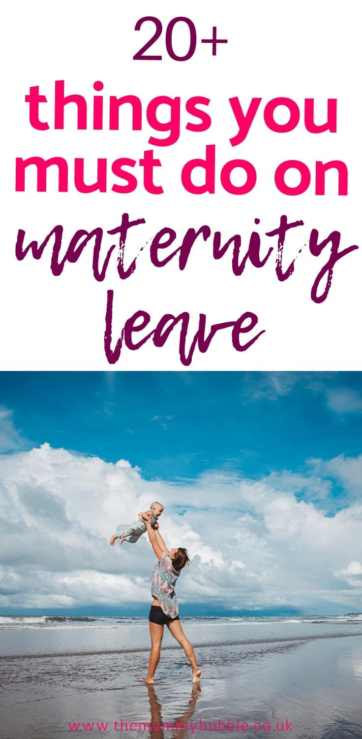 things you must do on maternity leave