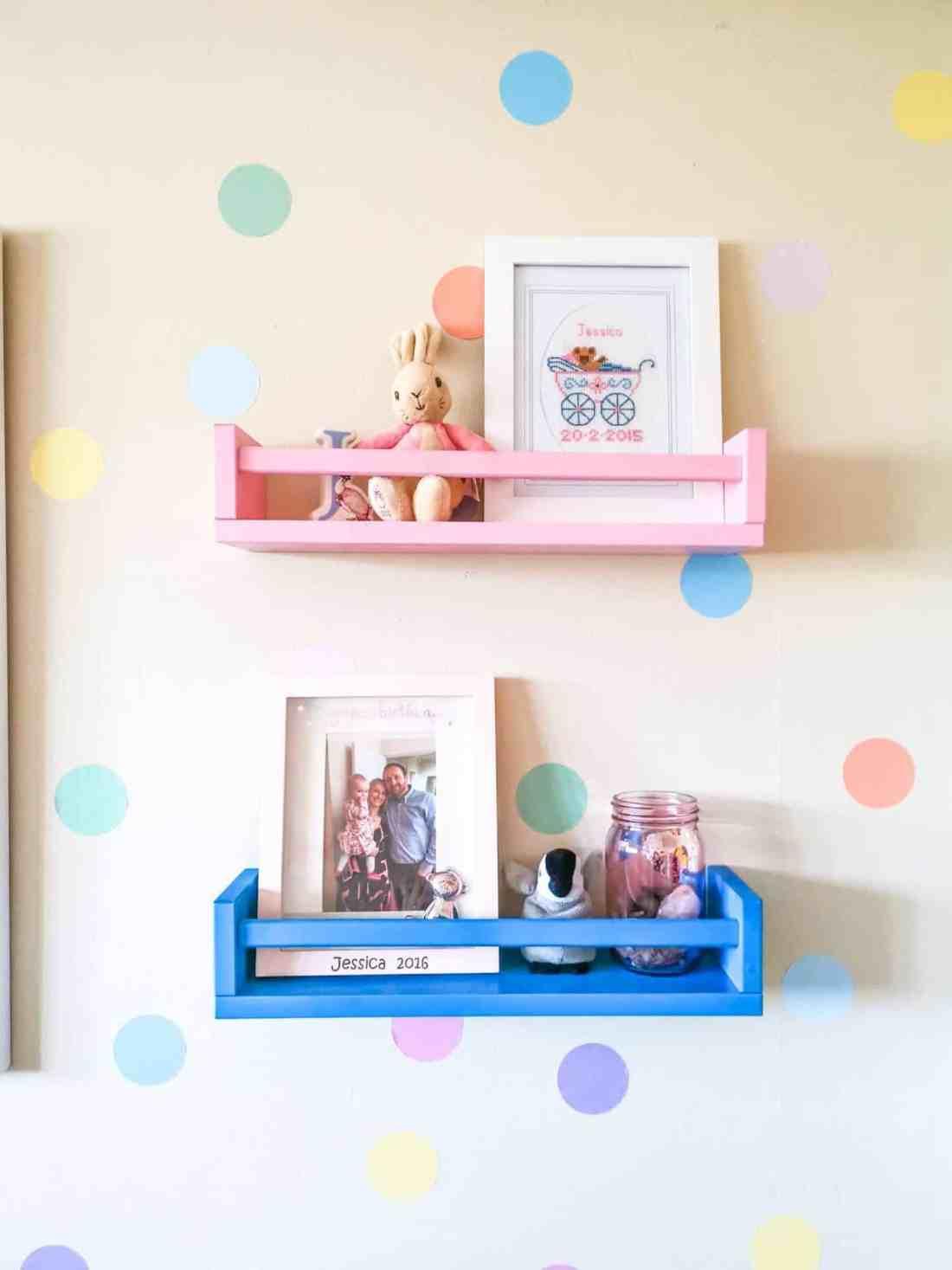 IKEA spice rack used in baby nursery