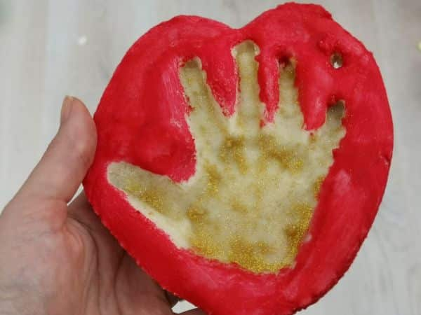 salt dough toddler handprint Christmas tree ornament