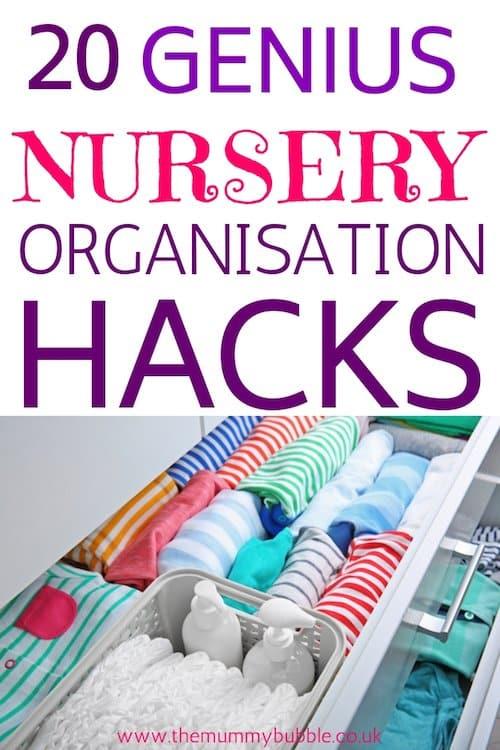 Genius nursery organisation and storage hacks