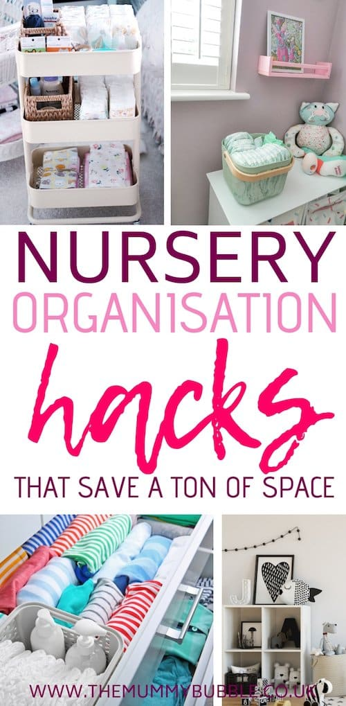 Nursery organisation hacks to save you a ton of space in your baby's room