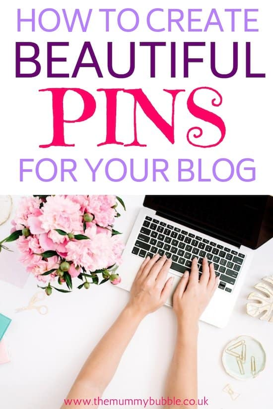 How to make beautiful pins for your blog