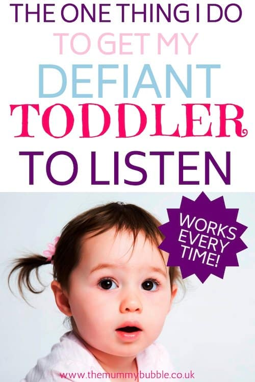 How to get a defiant toddler to listen