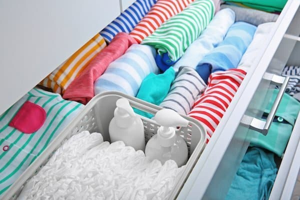 Nursery organisation hacks - drawer and clothing storage