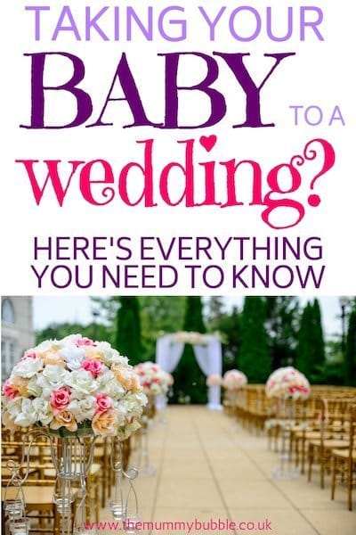 Top tips for taking a baby to a wedding