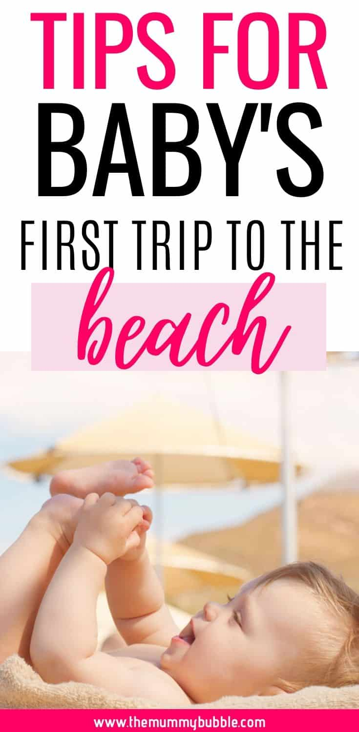 Tips for baby's first trip to the beach