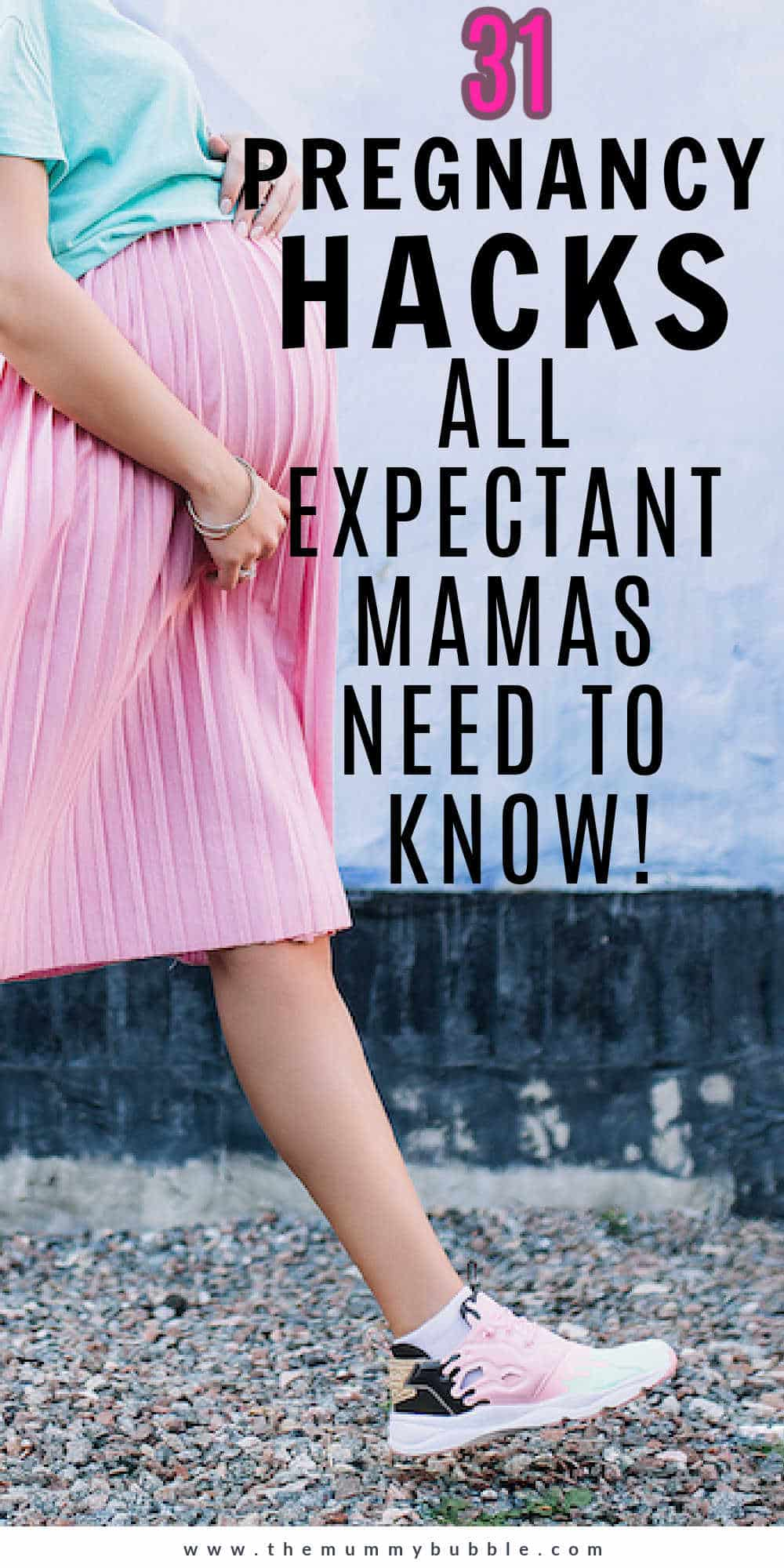 Pregnancy hacks for pregnant mamas-to-be
