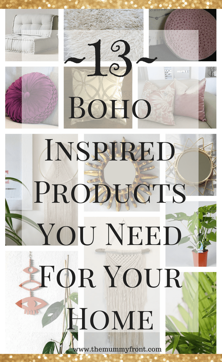 13 Boho Inspired products that you need in your home