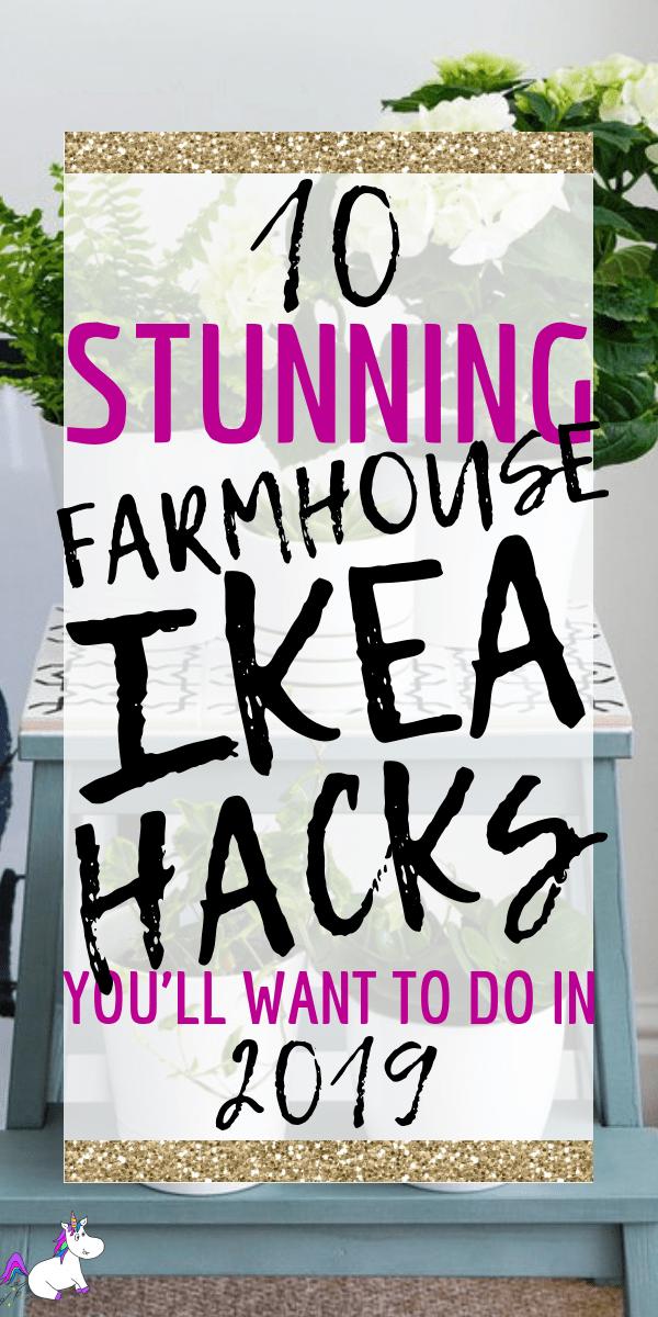 10 Incredible Farmhouse Style Ikea Hacks You Can Do On A Really Tiny Budget #farmhousestyle #farmhouse #ikeahacks #diyhomedecor #homedecoronabudget via: https://themummyfront.com #themummyfront DIY home decor, DIY projects, home decor