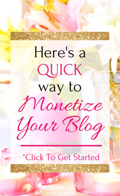 Here's a Quick Way to Monetize Your Blog #blogging #makemoney #howtomakemoney #makemoneyblogging #monetizeblog #blogformoney #bestaffiliatecompanies #affiliatemarketing #affiliatemarketingforbegginers #bloggingforbeginners