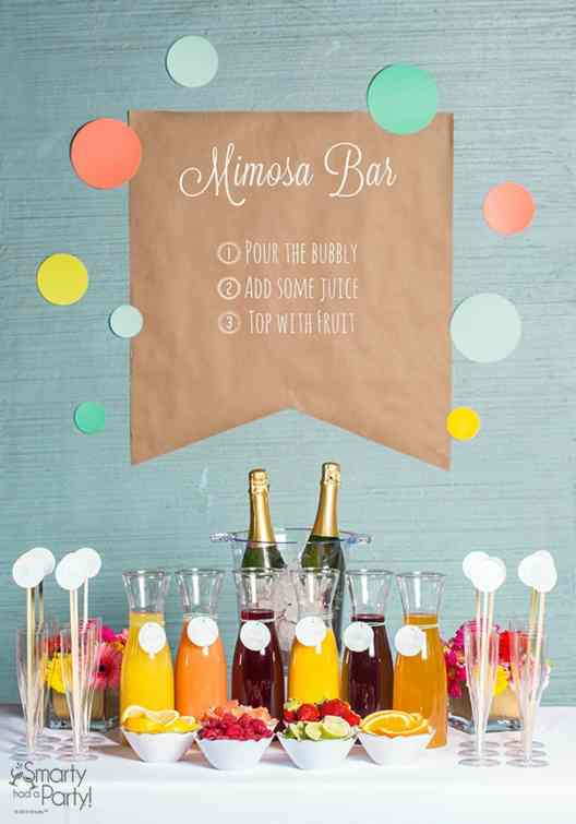 Summer Party Ideas | Mimosa Bar #gardenparty