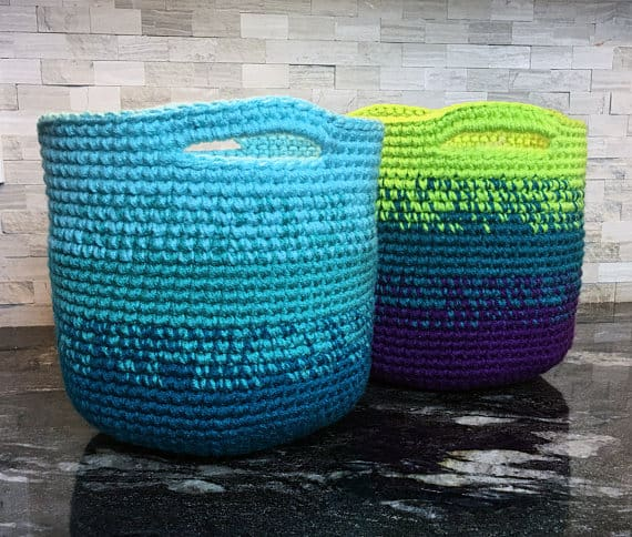 Crochet Pattern ~ Cutie Utility Basket ~ Crochet Pattern #storage #organization #organisation #crafty #craft #makemoney #sellcrafts #diy #crochetcraft