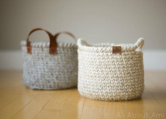 Waistcoat Basket Crochet Pattern #storage #organization #organisation #crafty #craft #makemoney #sellcrafts #diy #crochetcraft