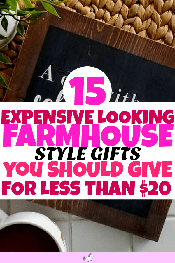 15 Stunning Farmhouse Style Gifts For Less Than $20 #giftideas #rustic #homedecor #home #decor #homedecoridea #homeideas #dreamhome #giftideas #rustichomedecor #farmhouse #farmhousehomedecor #housewarminggifts #housewarming #farmhousehomedecor #rustichomedecor #rusticfarmhousestyle #rusticfarmhousehomedecor #budgetgifts #homedecorbudget #gorgeousgifts