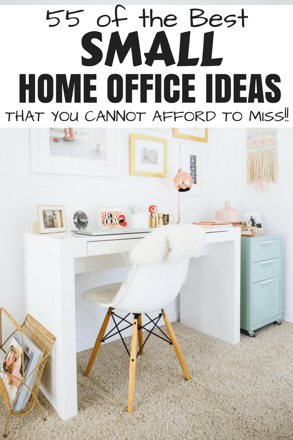 55 Stunning Small Home Office Ideas That Will Make You Want To Work Overtime #homeofficeideas #smallhomeofficeideas #homeofficeinteriordesign