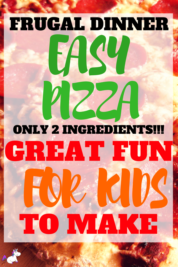 Homemade Pizza Recipe | With Foolproof 2 Ingredient Pizza Dough! #frugaldinneridea #activitiesforkids #easyrecipe