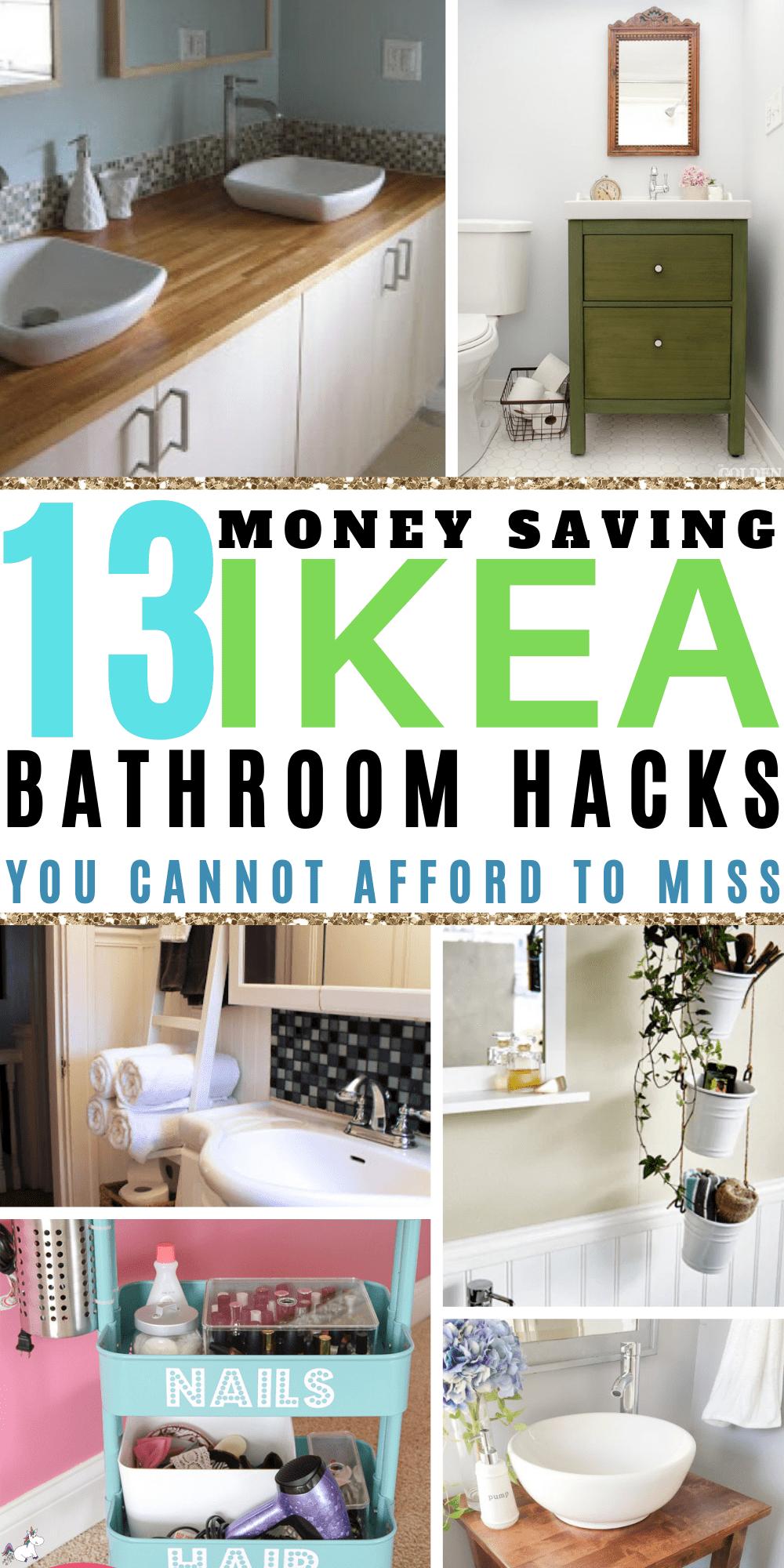 13 Awesome Ikea Bathroom hacks You Will Love If You Love Home Decor On A Budget | ikea hacks | Ikea organization hacks | Ikea storage hacks | Bathroom decor | #bathroomideas #bathroomdesign #bathroomremodelling #bathroomikeahacks #ikeabathroomhacks #diybathroomdecor #bathroomorganization #bathroomstorage #homedecoronabudget