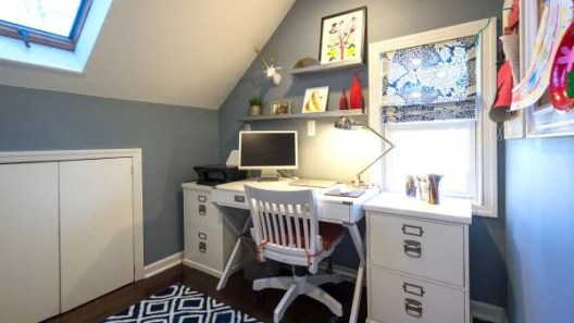 Small Home Office Ideas That Will Make You Want to Work Overtime #homeofficesmallspace #flexibleofficespace