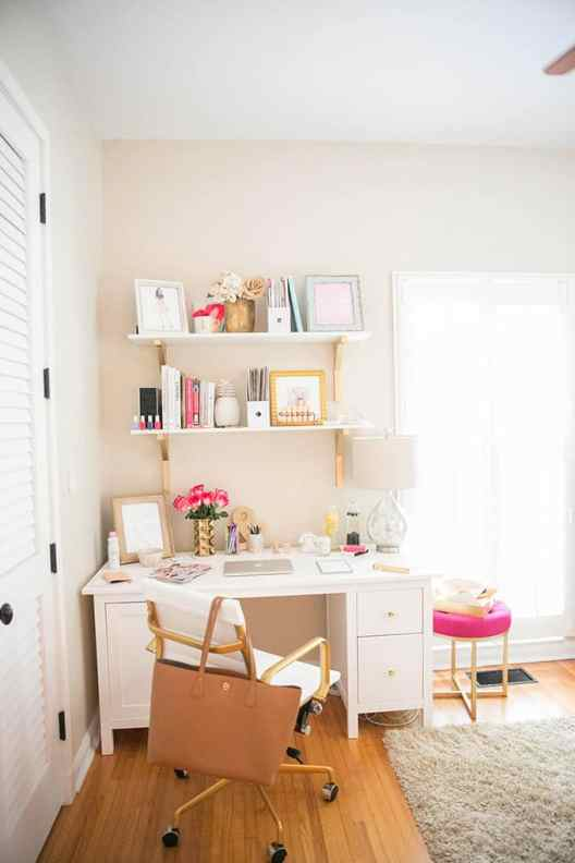Small Home Office Ideas That Will Make You Want to Work Overtime, how to make a home office in a small space #ikeaofficedesk