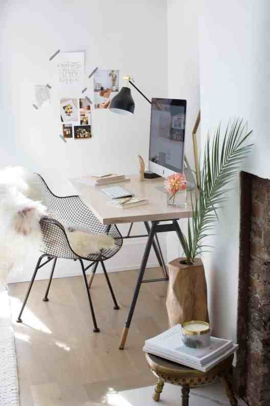 Small Home Office Ideas That Will Make You Want to Work Overtime #bohostylehomeoffice #deskdecorideas