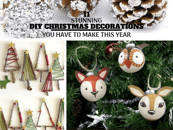 11 stunning diy christmas decorations you will obsess over christmasdecorations rusticchristmas easychristmascrafts