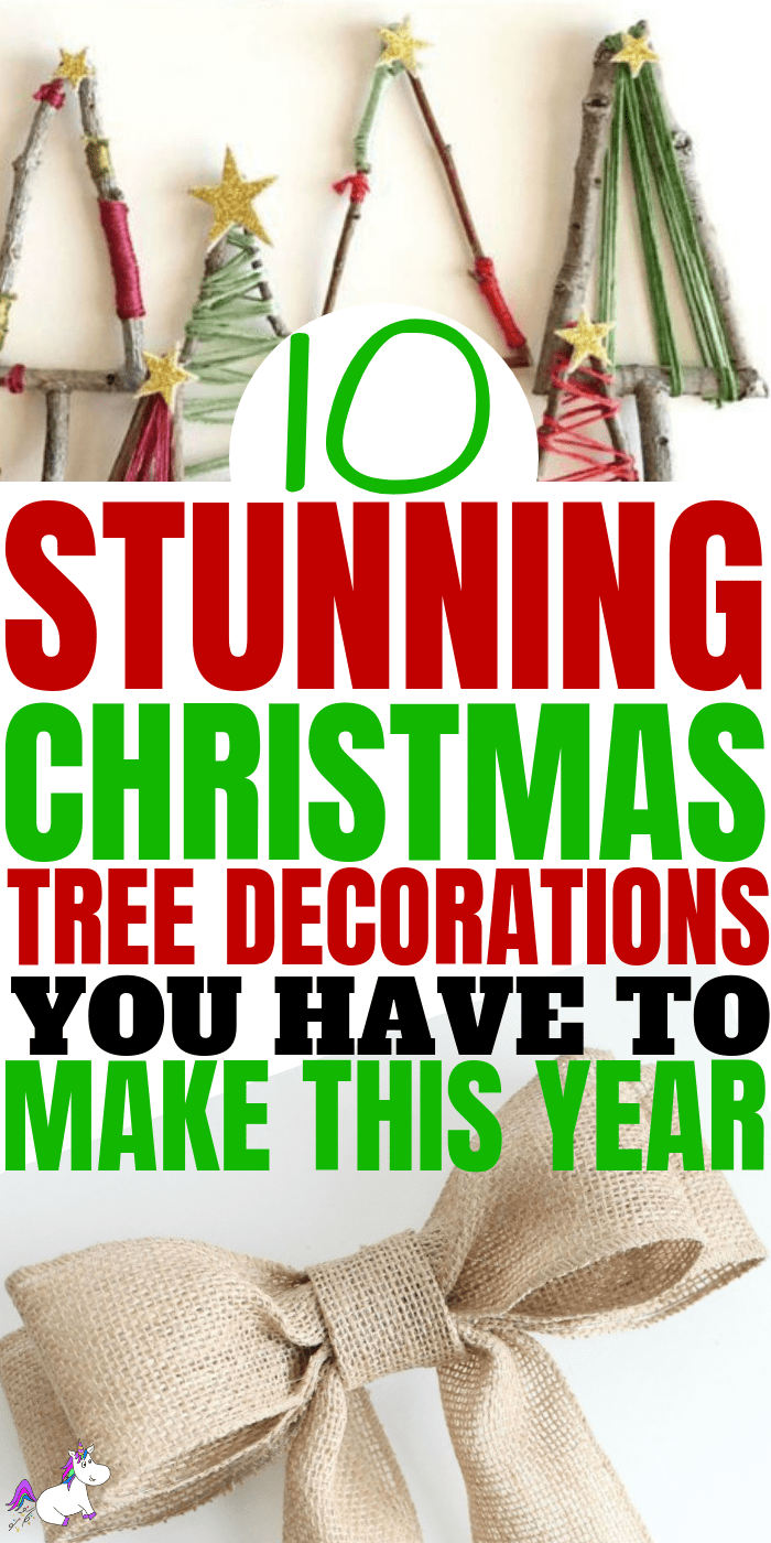 10 DIY Holiday Decorations That Will Make Your Christmas Tree Look Stunning This Year... #christmastree #christmasroomdecor #christmascrafts