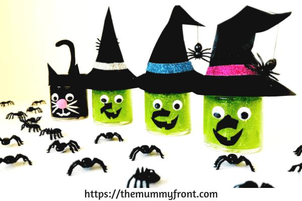 Halloween Slime - The best Halloween slime jar tutorial | cute halloween craft | slime jars | easy slime recipe