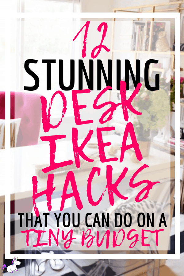 12 Stunning Desk Ikea Hacks That Will Save You Money | Ikea hacks | DIY home decor | ikea furniture | ikea furniture hacks | Ikea DIY | DIY projects | Via: https://themummyfront.com #themummyfront.com #ikeahacks #ikeafurniturehacks #ikeadiy #ikeahacks #ikeadeskhack #diydesk #desksetup #deskdecor