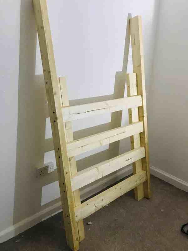 diy cabin bed ladder for bedroom makeover
