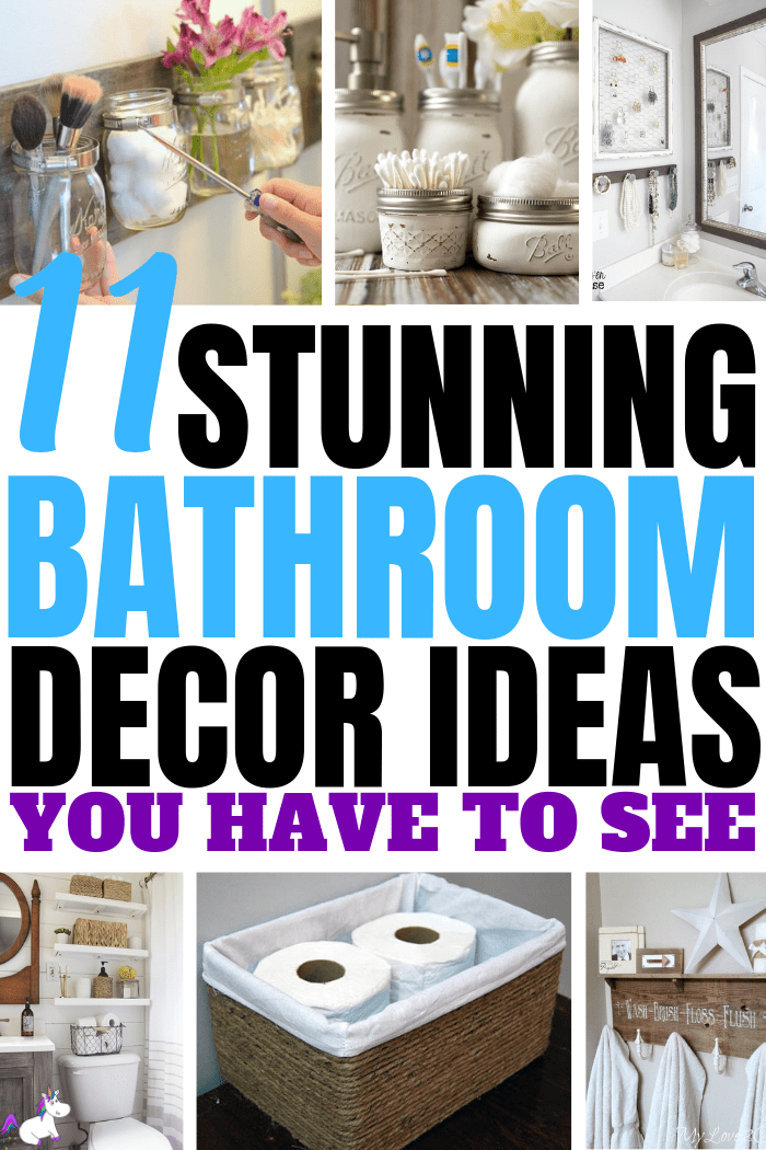 11 Stunning Bathroom Decor Ideas You Have To See | Bathroom inspiration | DIY home decor | Creative home decor | creative diy projects | Bathroom storage ideas | Via: https;//themummyfront.com #themummyfront #bathroomdecorideas #homedecoronabudget #diyhomedecor #bathroominspiration