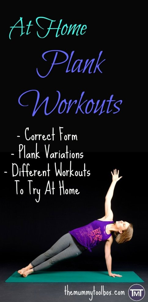 The different types of planks you can do for different muscle groups! & easy at Home plank workouts - no equipment required.