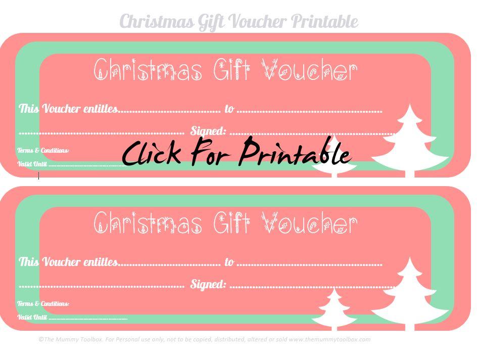 Free printable christmas gift vouchers